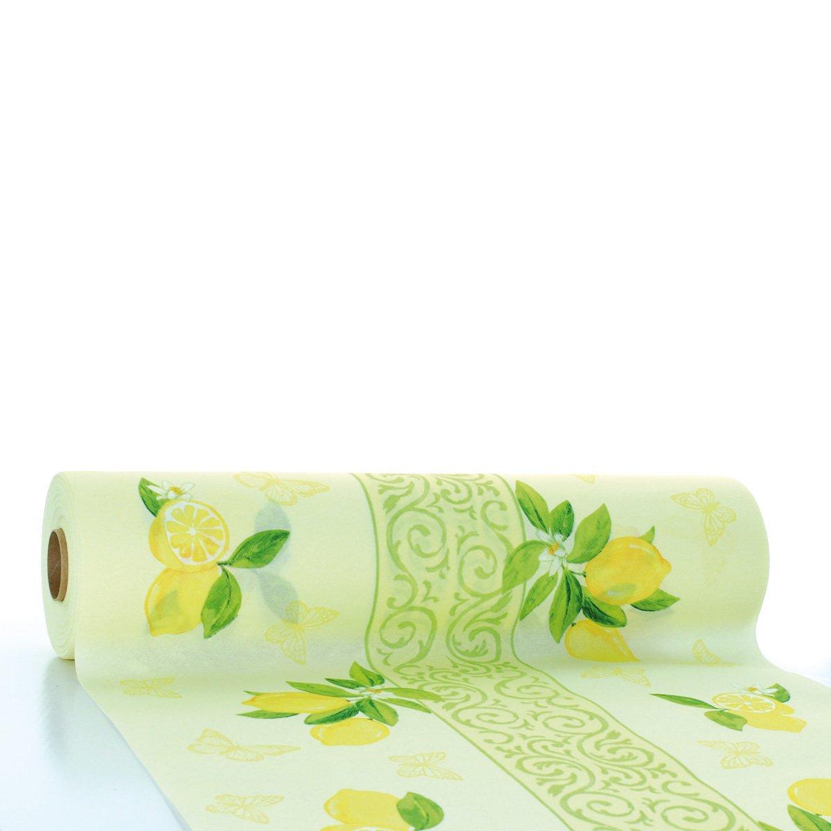 Tischdecke Tischläufer Liv in creme-gelb aus Linclass® Airlaid 40 cm x 24 m