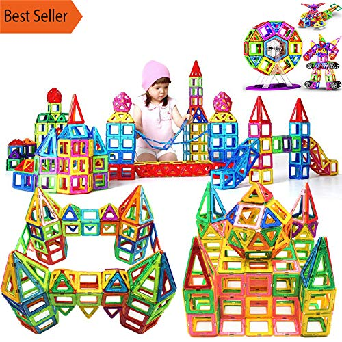 (PPH3 Shine 95-180pcs Mini Magnetic Designer Construction Set Model & Building Toy Plastic Magnetic Blocks Educational Toys for Kids Gift (120 Pcs/Set))
