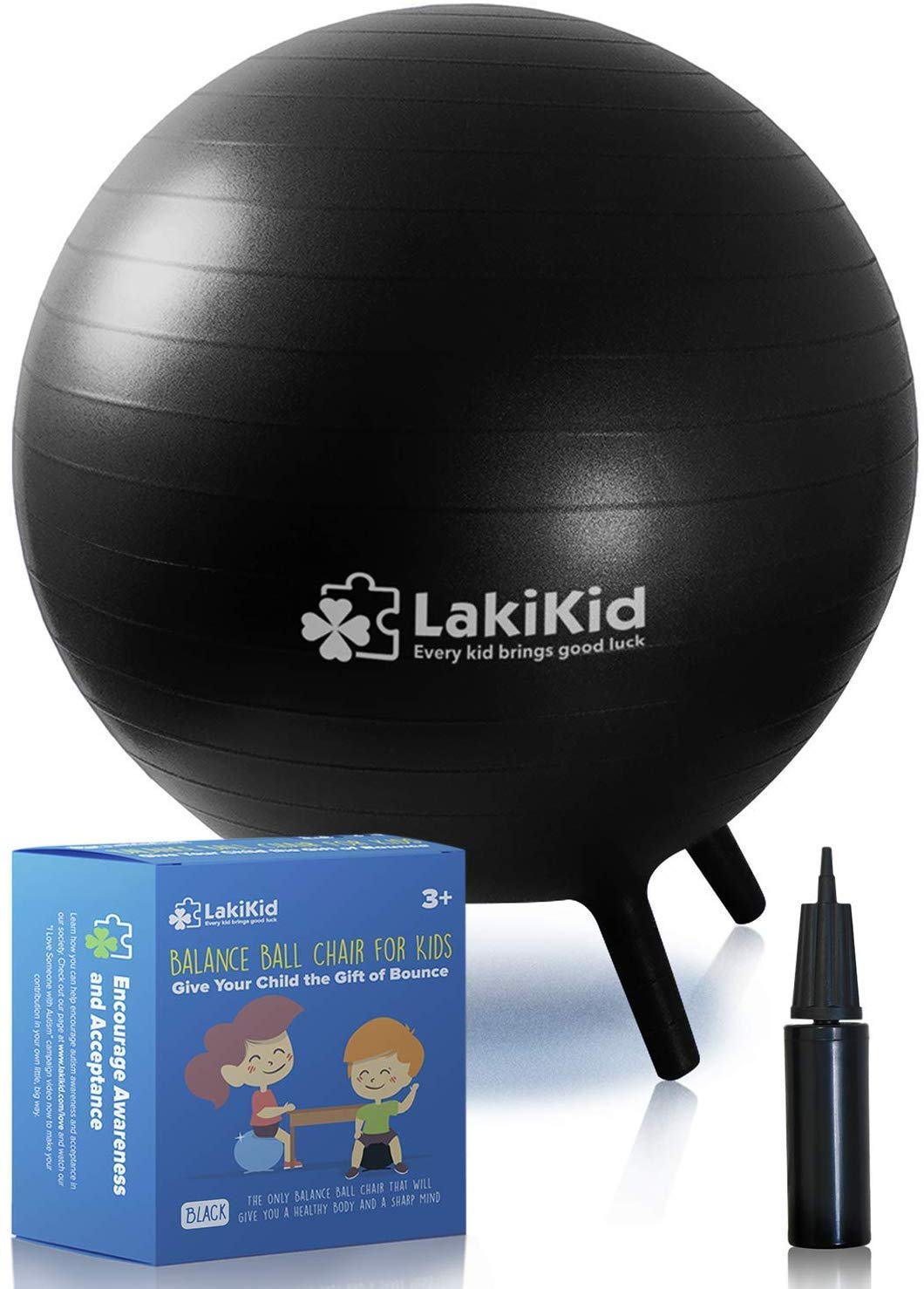 LakiKid Balance Ball Chairs for Kids Flexible Seating Classroom Furniture- Stability Ball Chairs with Legs, Exercise Ball Chair, Yoga Ball Chair, ...