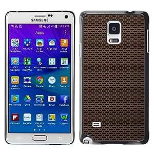 Smartphone Rígido Protección única Imagen Carcasa Funda Tapa Skin Case Para Samsung Galaxy Note 4 SM-N910F SM-N910K SM-N910C SM-N910W8 SM-N910U SM-N910 Texture Simple / STRONG