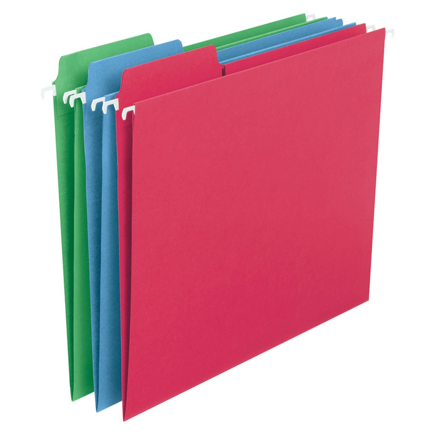 SMEAD FasTab Colored Hanging Folders, Letter 30ct