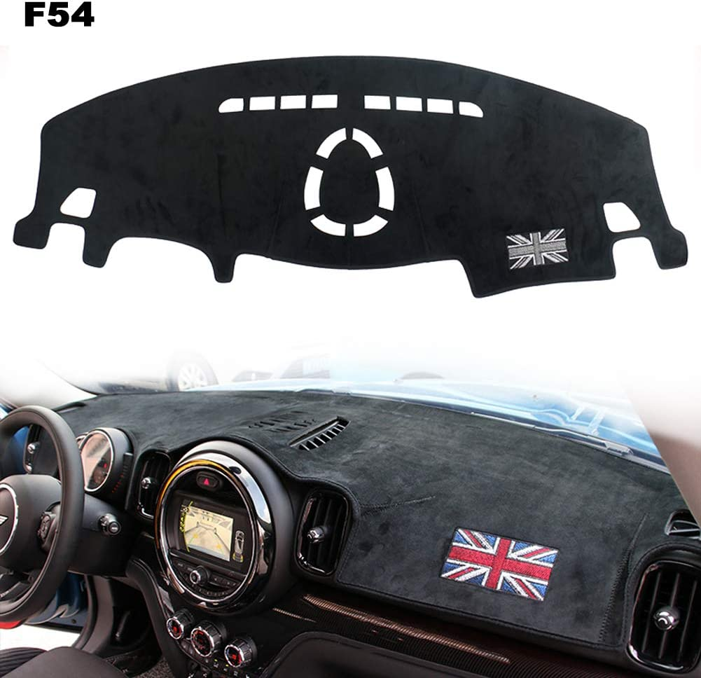 Red, R55 R56 PGONE Custom Fit Dashboard Black Center Console Cover Dash Mat Protector Sunshield Cover Pad Carpet for R55 R56 BMW Mini Cooper R F Series