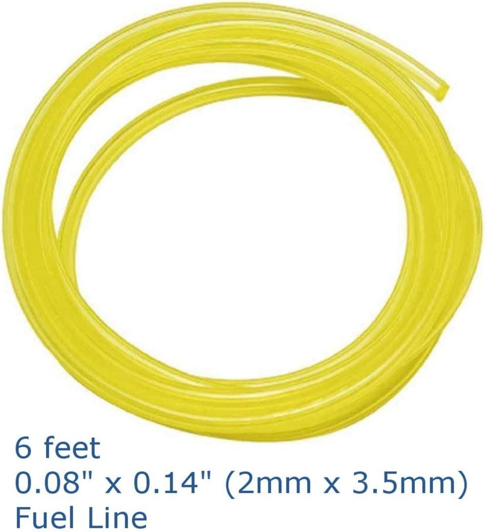 Zinniaya 4pcs 1.8m Fuel Line Hose Lubricant Tubing for Weedeater Chainsaw Engines Set Replacement Kit Petrol Gas Line Pipe