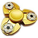 Premsons Fidget Spinner Metal Football Design High Quality - Gold