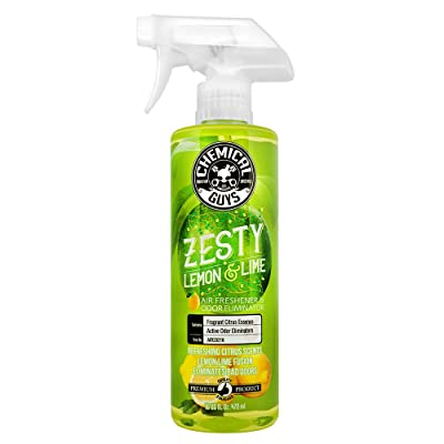 Chemical Guys Zesty Lemon and Lime Air Freshener and Odor Eliminator, 1 Pack: Automotive