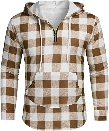 BeiJingDuck - Camisa de algodón con Capucha y Manga Larga para Hombre M-3XL Amarillo M: Amazon.es: Ropa y accesorios