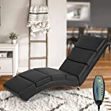 Mellcom Electric Massage Recliner Chair Chaise Longue Heated PU Leather Ergonomic Lounge Massage Recliner with Massage…
