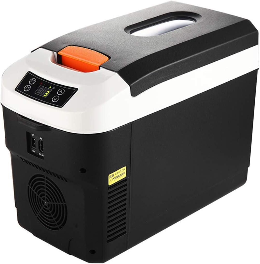 Refrigerador del automóvil Enfriador eléctrico de la Caja Congelador 12V 24V 220V Mini refrigerador portátil de Viaje Caliente/frío Adecuado 12L (Pantalla Digital)