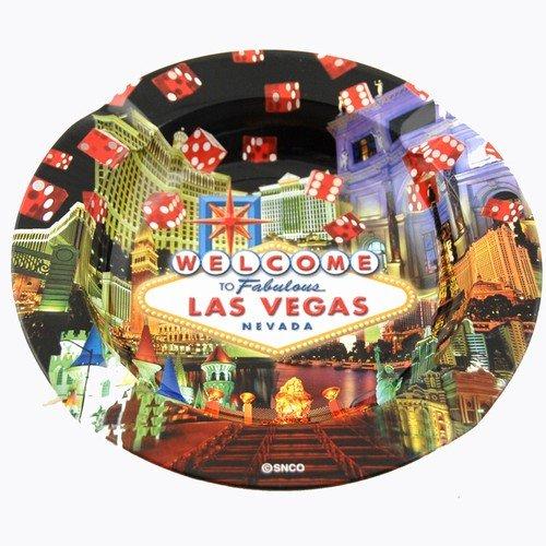 (4 7/18) Las Vegas Ashtray Dice Collage 33100 ()