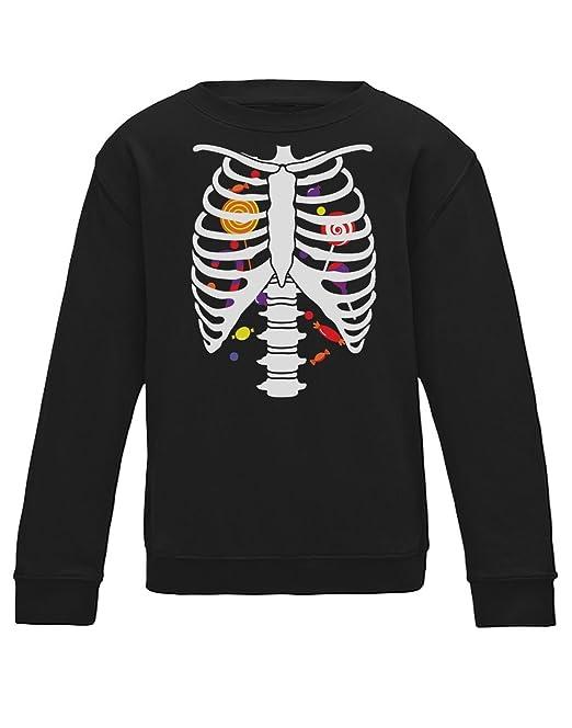 Green Turtle T-Shirts Sudadera para niños - Estampado Esqueleto y Dulces Halloween: Amazon.es: Ropa y accesorios