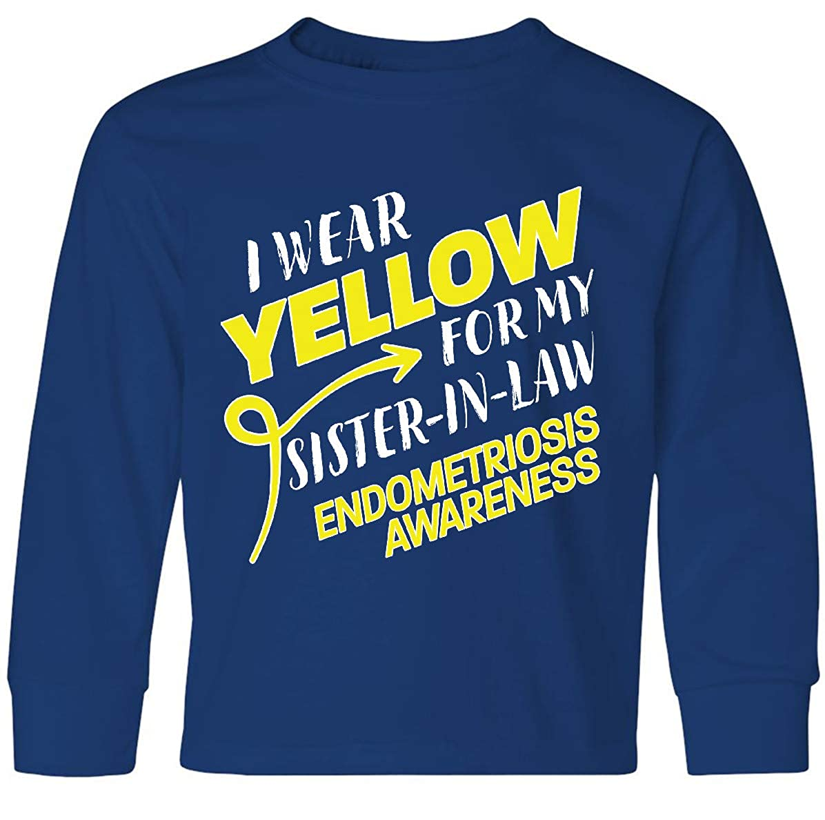 Endometriosis Baby T-Shirt inktastic I Wear Yellow for My Sister-in-Law