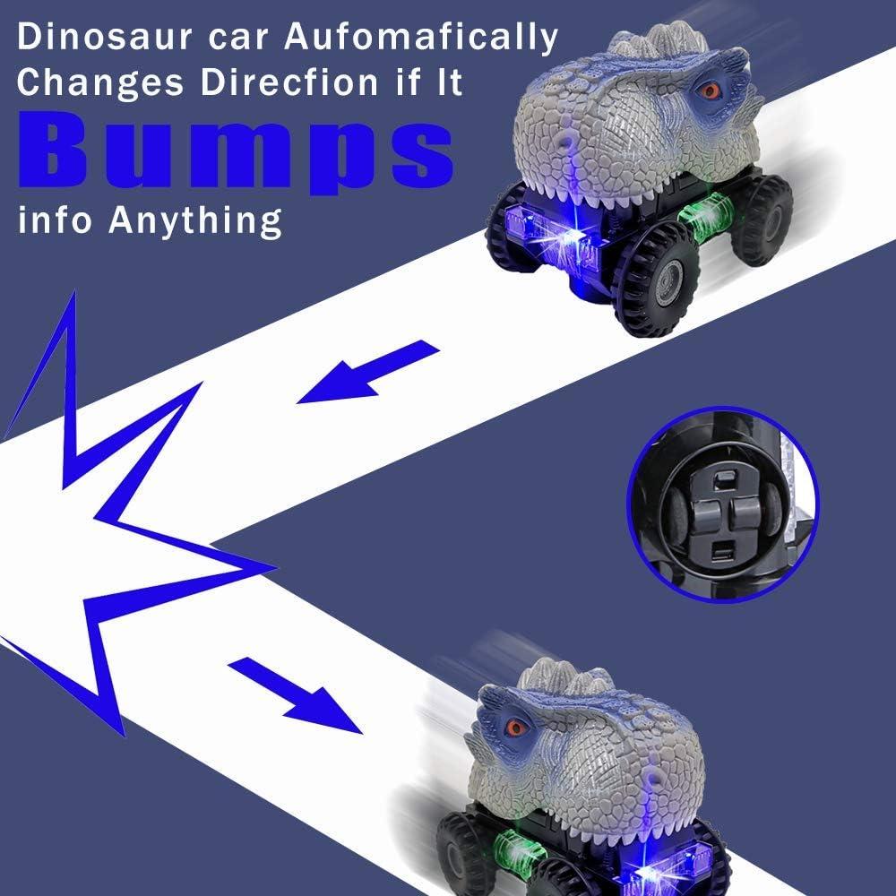 avec lumi/ères LED et Son r/éaliste pour Les gar/çons FGZU Voiture Jouet Dinosaure T-Rex