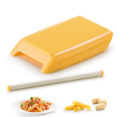 Oumosi Pasta Spaghetti pequeño Espiral Hueco en Polvo Molde Italiano Macaroni Maker con Rodillo Pin