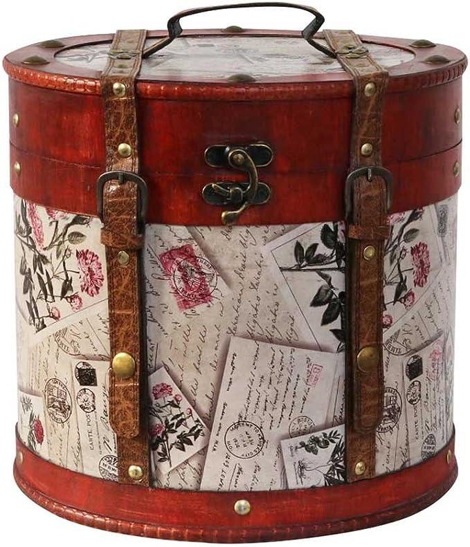 Sombrerera 28cm Sombrerero Cajas para Sombrero Estilo Antiguo decoración: Amazon.es: Hogar
