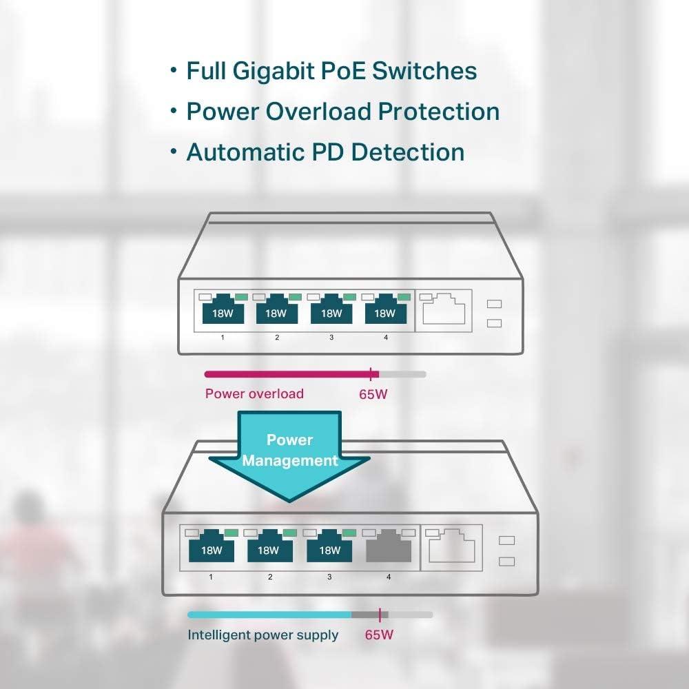 Tp Link Tl Sf1005p Desktop Switch Computers Accessories