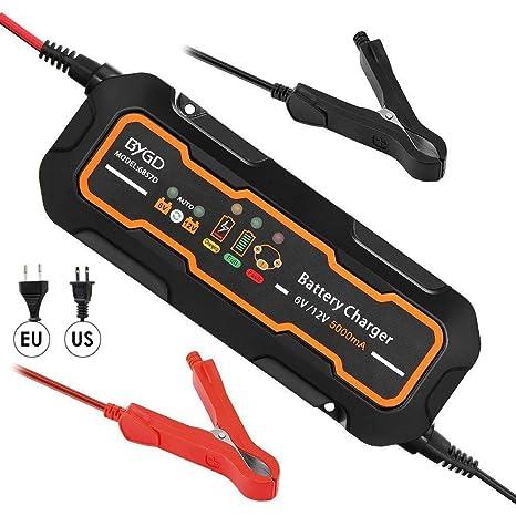 ZDGM Cargador de Batería para Coche, 3,8 A 6V/12V 8 Modos ...