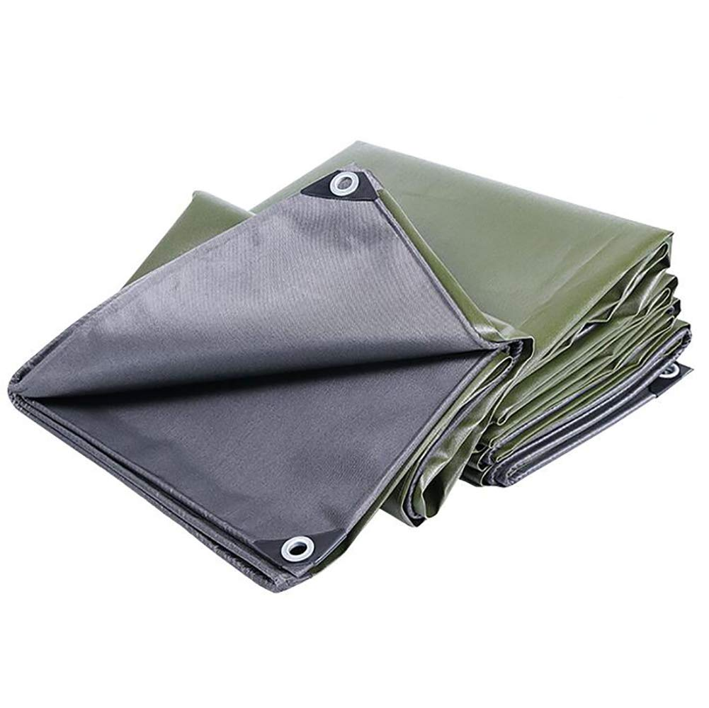 0.6mm Thick Heavy Duty Waterproof Tear Resistance Tarpaulin,Insulation Tent Splice Awning Sun Shade with Metal Eyelets, 600g/㎡ QJ (Size : 2mx2m)