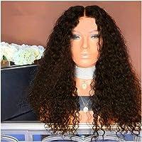 Natuurlijke krullend haar pruiken for zwarte vrouwen, Kinky Curly Afro Pruiken Human Hair Lace Fluffy Volledige…