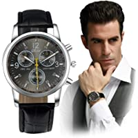 Absolute Cheap!!! But Looks Really Expensive Mens Dress Watch- Fashion Simple Analog Watch Dial Quartz Crocodile Faux Leather