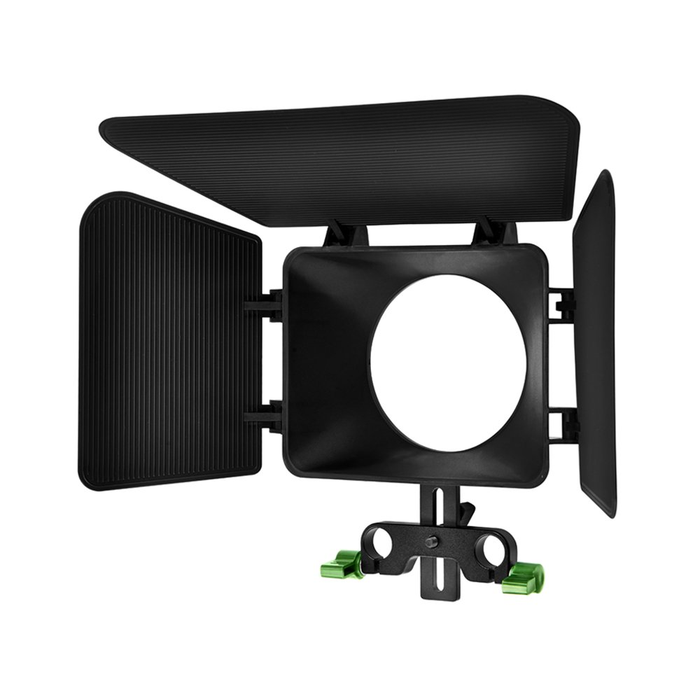 IMORDEN M-1 Matte Box of DSLR and Video Camera Shoulder Support Rig with Detachable Blades for 15mm Aluminum Rods(Adjustble Height:up to 49mm)