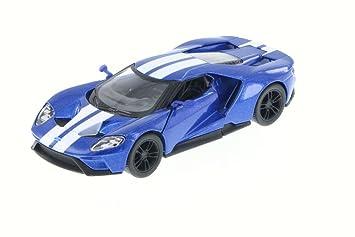 Amazon Com Kinsmart  Ford Gt Blue Df   Scalecast Model Toy Car Toys Games
