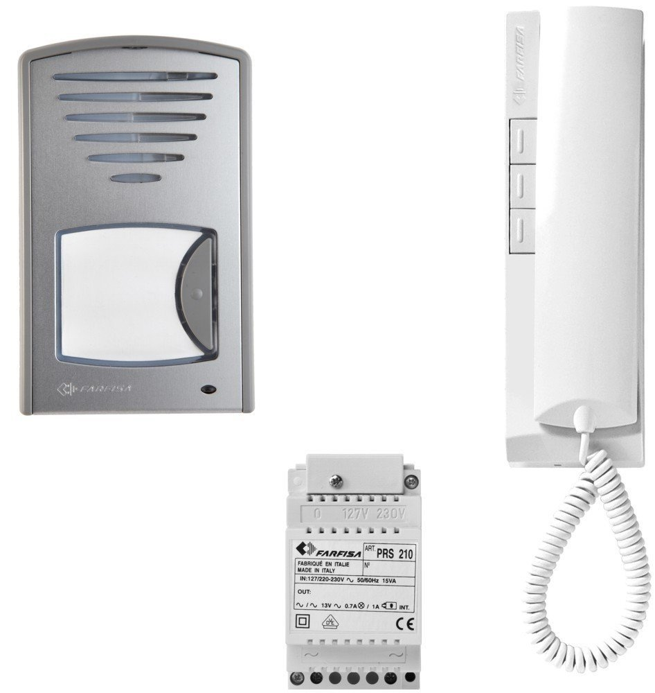 ROCOM door intercom single family house wire saving 2 wire technology, 1 piece, 1CKDS Farfisa