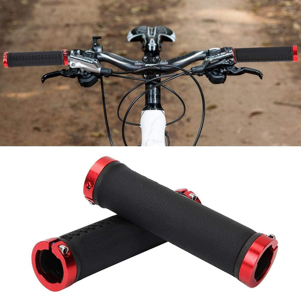 2 Colores Unisex Estilo de Moda Cerradura Antideslizante en los manillares de Bicicleta para reemplazo de Bicicleta de monta/ña VGEBY1 Pu/ños de Manillar de Bicicleta