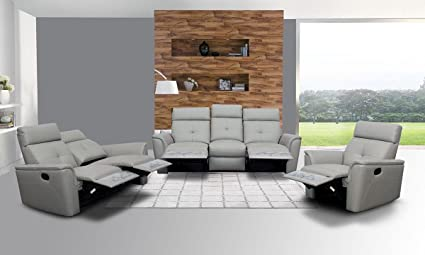 Amazon.com: ESF 8501 Recliner Sofa Living Room Set 3Pcs Chic ...
