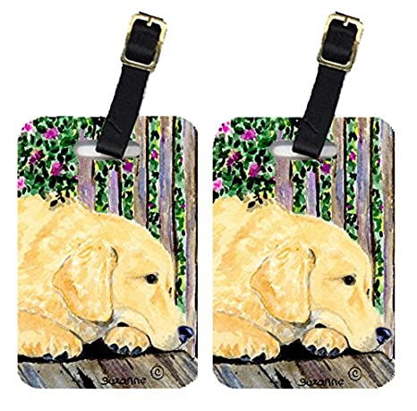 Golden Retriever Dog Baggage Tag For Travel Bag Suitcase Accessories 2 Pack Luggage Tags