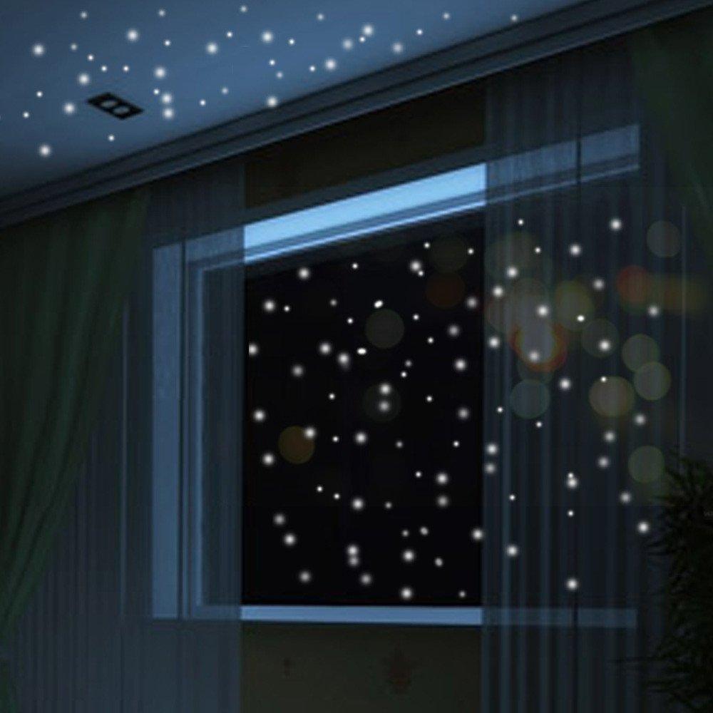 Psunrise Decoración Glow in The Dark Star Wall Stickers 407Pcs Round Dot Luminous Kids Room Decor