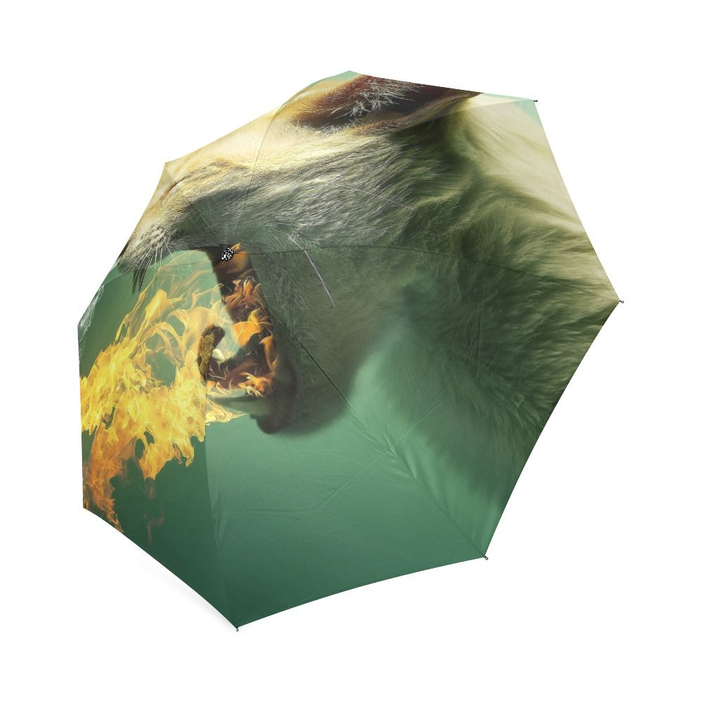 free shipping Personalized Flaming Cat Foldable Umbrella Rain Compact Travel Umbrella