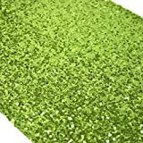 Koyal Sequin Table Runner, 13 by 108-Inch, Lime Green by Koyal