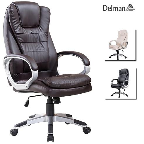 Bürostuhl ergonomisch  Delman Drehstuhl Bürostuhl Bürostuhl Chefsessel Bürodrehstuhl PU ...