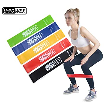 67b2cc9d8b Tongtu Set of 5 Natural Latex Resistance Loop Bands Exercise Band for Gym  Home Outdoor Fitness