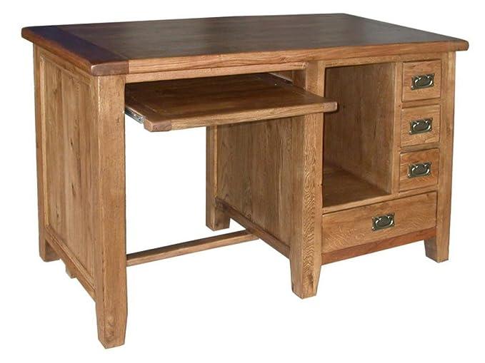 Neo escritorio mesa madera maciza de roble muebles rústicos ...