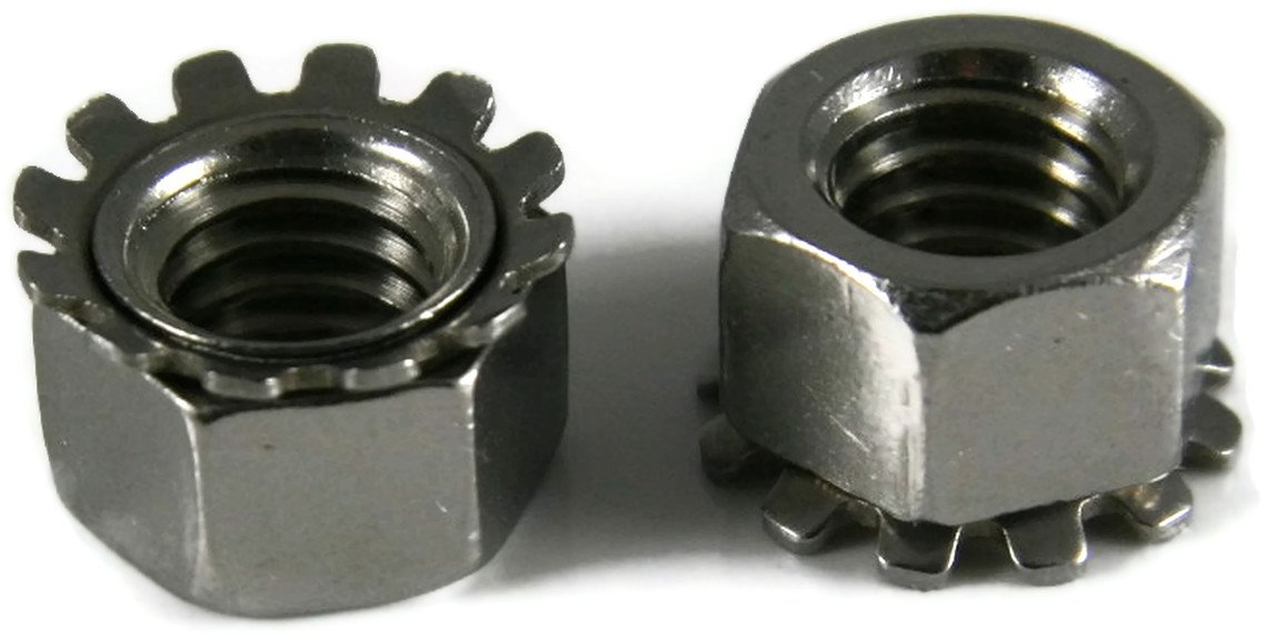 #6//32 Qty-1,000 Keps K-Lock Nuts 18-8 Stainless Steel