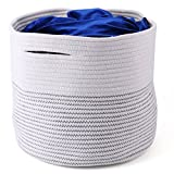 Tosnail 13 x 15 x 15 inches Large Storage Baskets Cotton Rope Woven Storage Bins - Great Toy, Towel, Kids Laundry