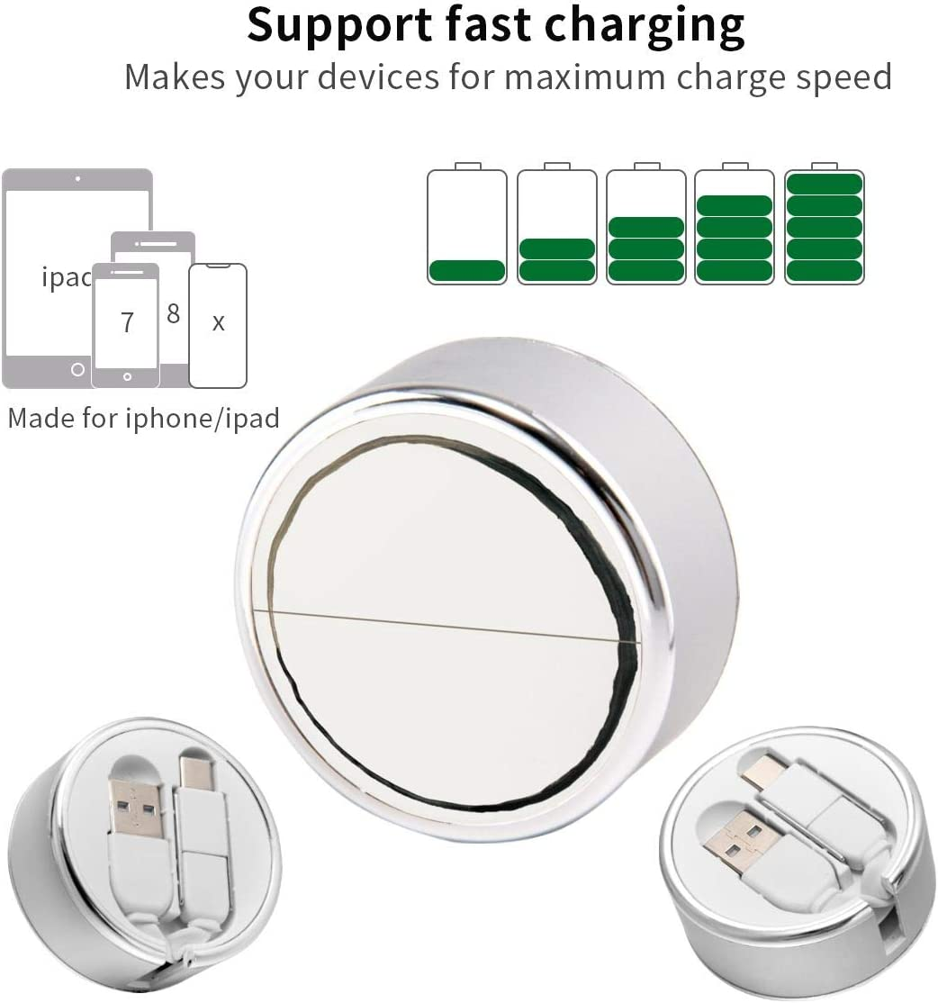 Multi Quick USB Charging Cable,Rxd 2 in1 Fast Charger Cord Connector High Speed Durable Charging Cord Compatible with iPhone//Tablets//Samsung Galaxy//iPad and More