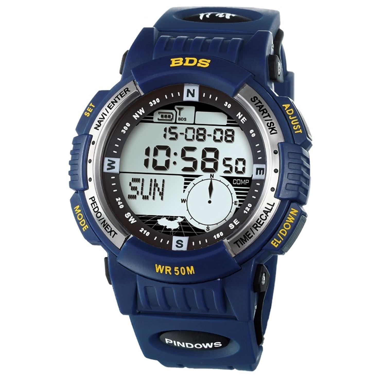 Herren Wandern-Laufen-SchrittzÄhler-Skifahren-Outdoor-Sportarten-Wasserdichte digitale Uhren-C