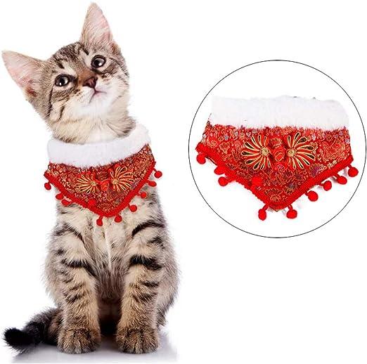NashaFeiLi Pañuelo para Mascota, Collar de Navidad para Perro o ...