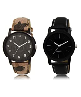 Acnos Black Dial Analogue Watches Combo Pack of 2(AC03-05)