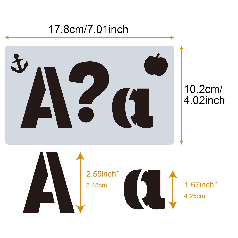 Migaven Alphabet Stencils Templates Letter Number Stencils Kids Adults DIY Scrapbooking Journal Photo Album 38pcs