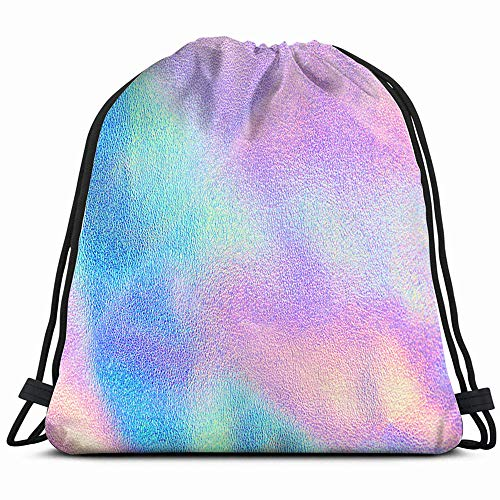 Shiny Violet Transparent Sunglasses - Holographic Real Texture Blue Pink Green Drawstring Backpack Bag For Kids Boys Girls Teens Birthday, Gift String Bag Gym Cinch Sack For School And Party