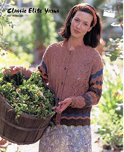Elite Classic Cardigan (Classic Elite Yarns Knitting Pattern #457 Herb Garden Cardigan - Experienced Level)
