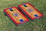 Los Angeles LA Clippers NBA Basketball Regulation Cornhole Game Set Basketball Court Version