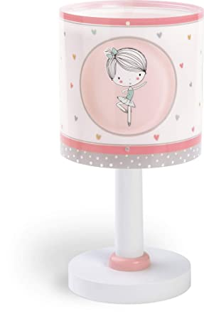 Dalber Sweet Dance Lámpara infantil de sobremesa con diseño bailarina, Rosa