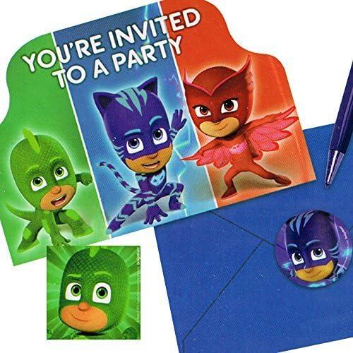 PJ Masks Invitaciones con sobres (8 ct)