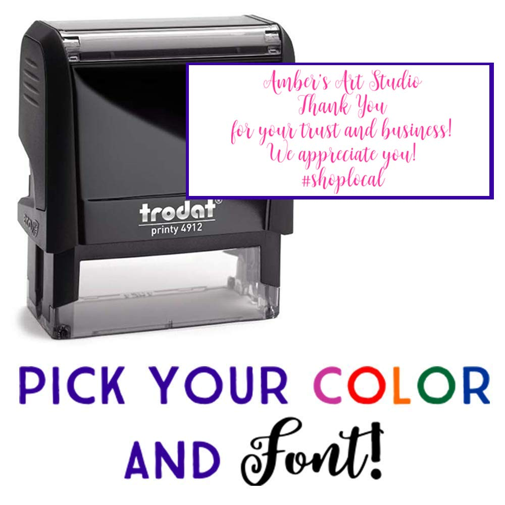 Up to 3 Lines 20 Font Options Self-Inking Address Stamp Custom Stamp