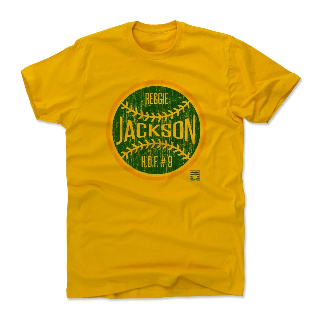 premium selection b11b0 0af68 Amazon.com : 500 LEVEL Reggie Jackson Shirt - Vintage ...