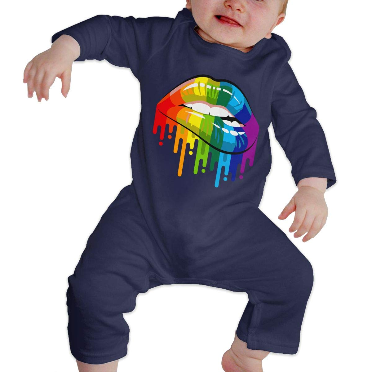 Baby Boy Bodysuits Rainbow Lips Baby Clothes